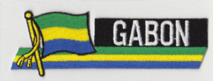 Gabon Embroidered Flag Patch, style 01.